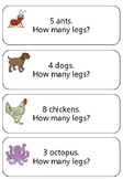 Counting word problem cards