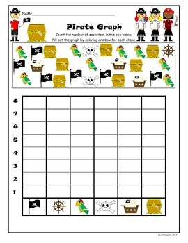 Counting/Graphing-Pirate Theme