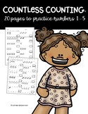 Countless Counting™ Numbers 1 - 5 (20 pages, 240 questions!)