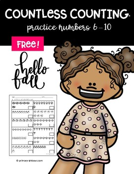 FREE Countless Counting™ Numbers 6 - 10 (4 Fall Themed pages!)