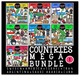 Countries 1 Clip Art Mega Bundle