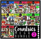 Countries 2 Clip Art Mega Bundle {Educlips Clipart}
