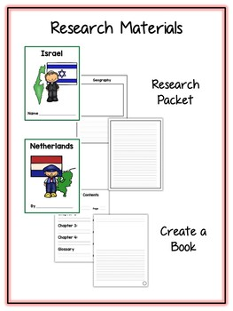 Countries #2 Research Project - 11 Packs - Vocab Cards, Packet, Book & More