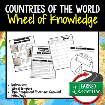 Countries Activity, Wheel of Knowledge (Interactive Notebook)