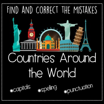Countries Around the World: Find and Correct the Mistakes