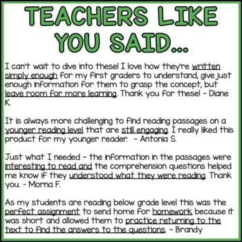 Countries Around the World Reading Comprehension Passages (K-2) - Social Studies