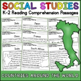 Countries Around the World Reading Comprehension K-2