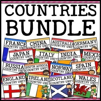 Countries Around the World Social Studies Units Bundle