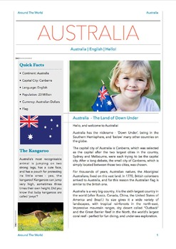 Geography Bundle - Australia + Thailand + Russia - 3 in 1