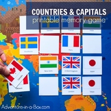 Countries & Capitals of the World: Bingo Game & Memory Gam