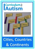Countries and Cities Geography Sorting Autism Special Education