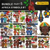 Countries Clip Art Bundle-Africa part #1