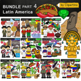 Countries Clip Art Bundle - Latin America