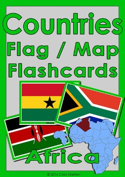 Flag Map Of Africa.Countries Flag Map Flashcards Africa By Elementary Esl Efl Education