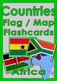 Countries Flag & Map Flashcards - Africa