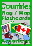 Countries Flag & Map Flashcards - Americas