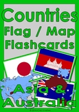 Countries Flag & Map Flashcards - Australasia