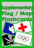 Countries Flag & Map Flashcards - Supplementary
