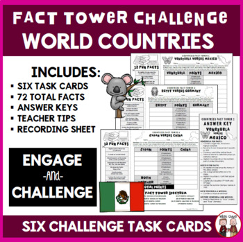 Countries Interactive Fact Towers Activity
