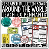 Digital Around the World & Country Research Project Templates Teach-Go Pennants™