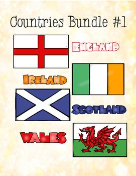Countries Task Card Bundle #1