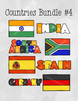 Countries Task Card Bundle #4