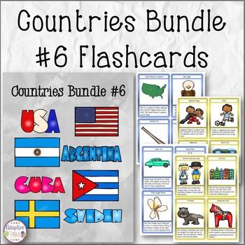 Countries Task Card Bundle #6