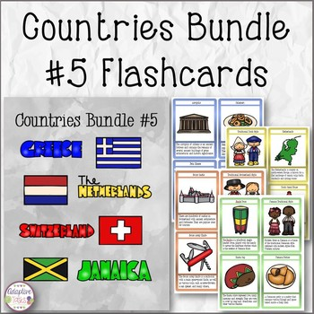 Countries Task Card Bundle #5