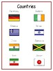 Countries Writing Word Thematic Folder - Picture Word Wall