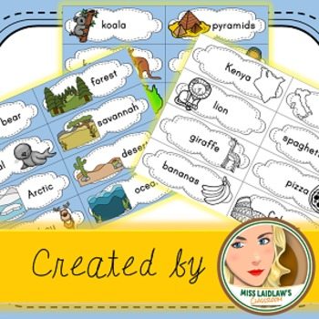 Countries and Biomes - Word Walls, Venn Diagrams, Writing Support, Vocabulary