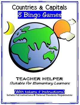 Countries And Capitals Full Bingo Games By Donnette Davis TpT - Countries and capitals game