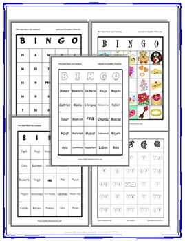 Countries and Capitals 8 Full Bingo Games