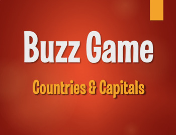 Spanish-Speaking Countries and Capitals Buzz Game