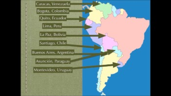 South America Map Song.Countries And Capitals Of South America Rap By Senor Ashby Tpt