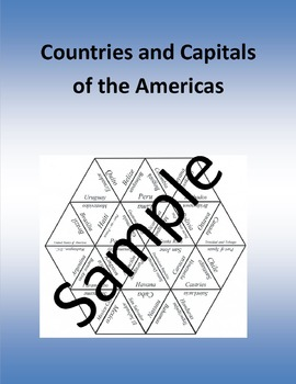 Countries and Capitals of the Americas - puzzle