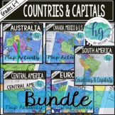 Countries and Capitals of the World Map Activity Bundle (P