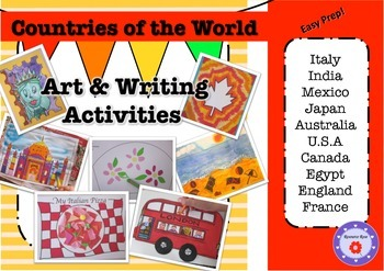 Countries of the World- Art & Writing Activities