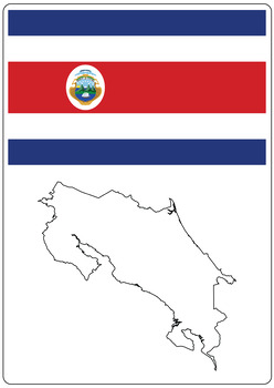 Countries information cards, with maps, flags, emblems (Americas Set)