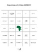 Countries of Africa BINGO!