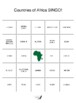 Countries of Africa BINGO!