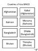 Countries of Asia BINGO!