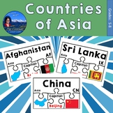 Countries of Asia Geography Puzzles