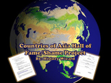 Countries of Asia Hall of Fame/Shame Oral Report
