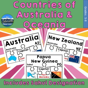 Countries of Australia & Oceania Geography Puzzles