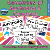 Countries of Australia and Oceania Geography Puzzles