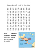 Countries of Central America Word Search