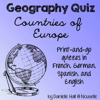 Geography Quiz - Countries of Europe - French, German, Spa