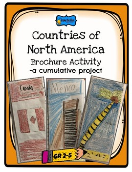 Countries of North America brochure activity