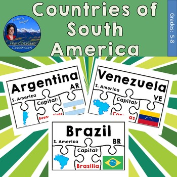 Countries of South America Geography Puzzles