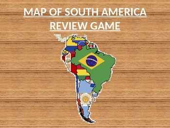countries of south america map review powerpoint template by lynn izat